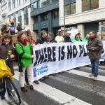 Divers membres d'Associations 21 manifestaient à Bruxelles ce 3 déc. 2011