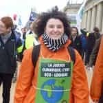 Eléonore Barrelet, à la manifestation d'Ostende le 6 décembre 2015